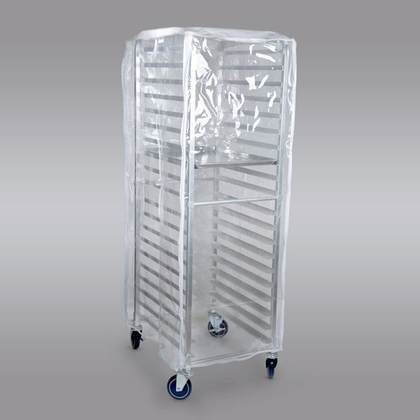 Curtron SUPRO-14-EC Clear Bun Pan Rack Cover - 12-14 Mil