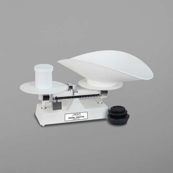 Cardinal Detecto 1002T2B 8 lb. Baked Enamel Baker's Dough Scale with Scoop - 32 oz. x 0.5 oz. Beam Grads