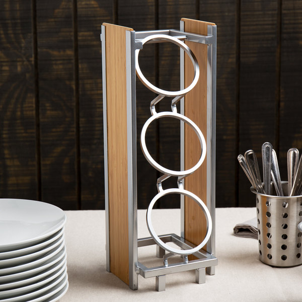 Cal-Mil 1283 Eco Modern Bamboo 3-Cylinder Vertical Flatware / Condiment Display Main Image 7