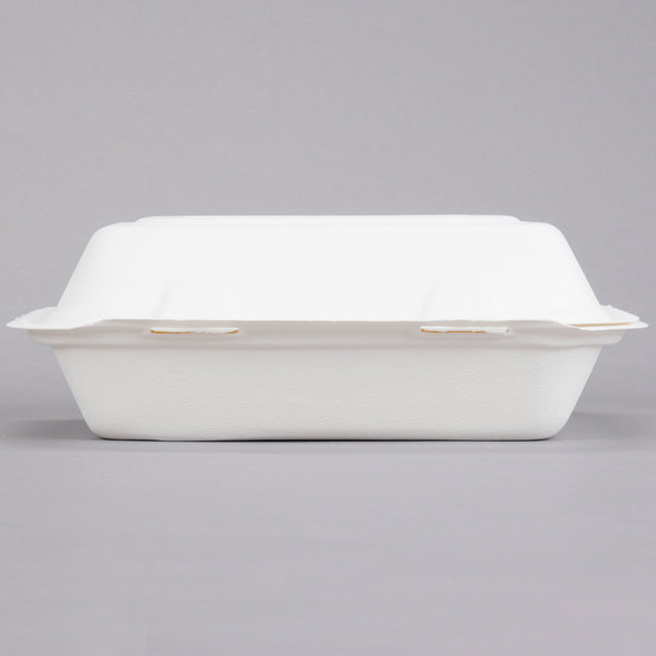 Dart Solo HC9SC Bare 9 inch Sugarcane Compostable Take out Container - 200/Case