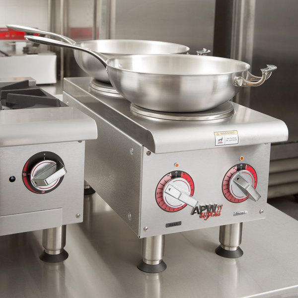 APW Wyott SEHPi Dual Solid Burner Countertop Electric Range - 240V Main Image 9