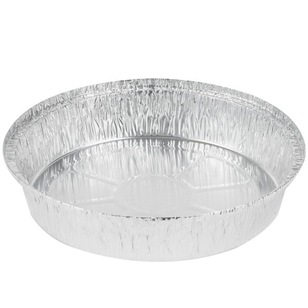Round foil take out container