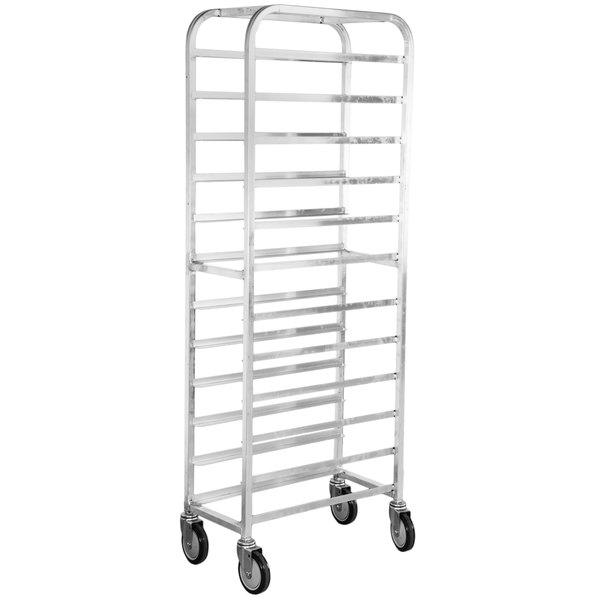 "Winholt AL-1012 End Load Aluminum Platter Cart - Twelve 10"" Trays Main Image 1"