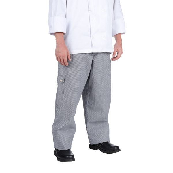 Chef Revival P023HT Size L Houndstooth Chef Cargo Pants