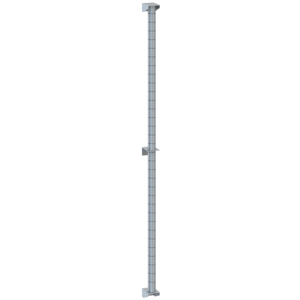 """Metro 54PDFS Super Erecta Stainless Steel Post-Type Wall Mount 54"""" Post with Brackets"""