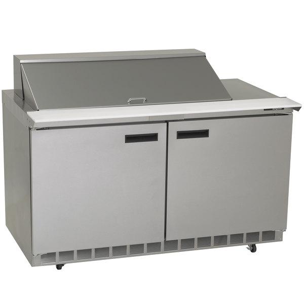 "Delfield 4460N-18M 60"" 2 Door Mega Top Refrigerated Sandwich Prep Table Main Image 1"