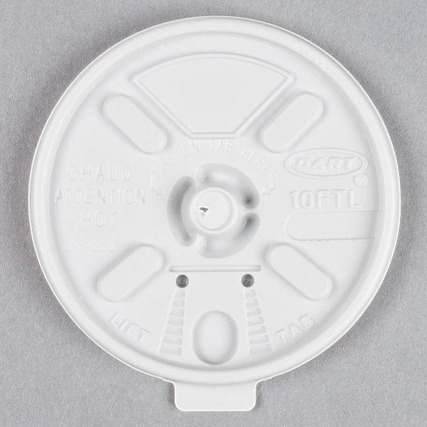 Dart 10FTL White Lift'n'Lock Lid - 1000/Case