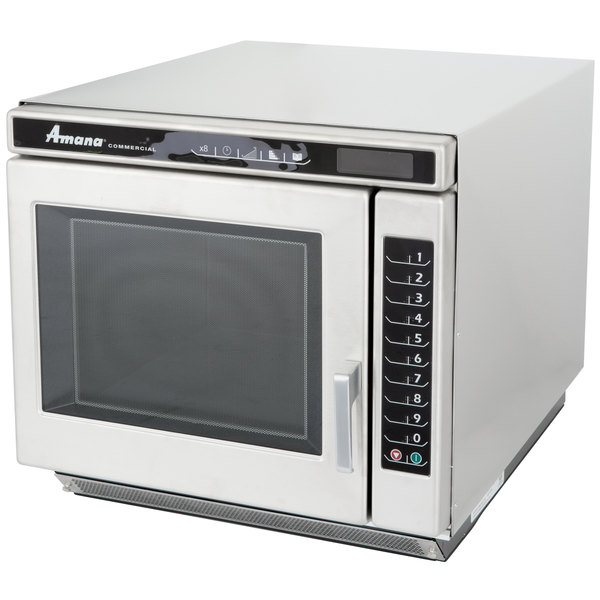 The Ful 1700w Amana Rc17s2 Commercial Microwave Oven Provides High Performance That S Ideal For Rethermalizing Boost Heating And Steaming In Your