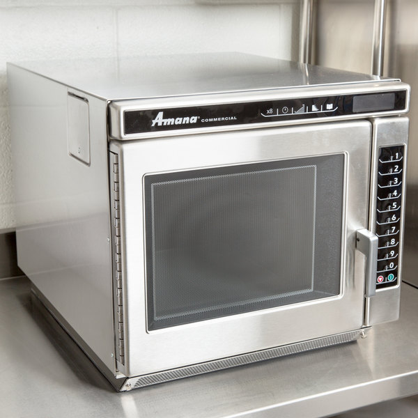 Amana Rc17s2 Heavy Duty Stainless Steel Commercial Microwave Oven With Push On Controls 208 240v 1700w