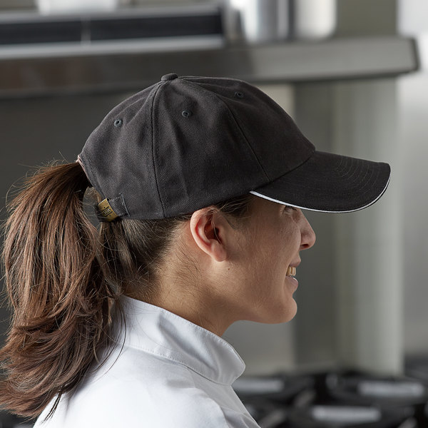 Chef Revival Black Custom Embroidered 6-Panel Baseball / Chef Cap Main Image 2