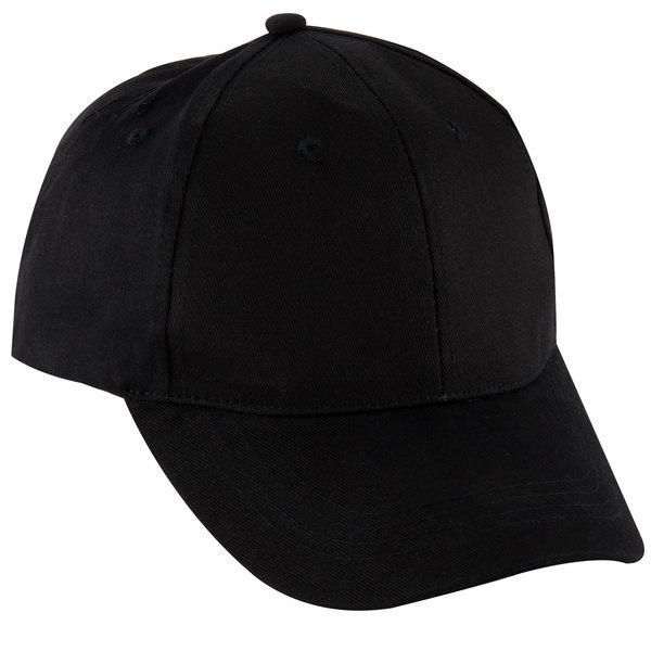 Chef Revival H067BK Black 100% Cotton Custom Embroidered Baseball / Chef Cap