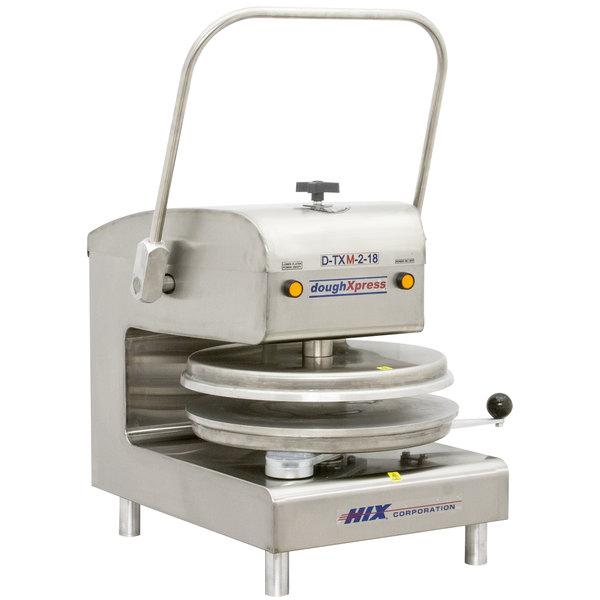 """DoughXpress D-TXM-2-18 Dual Heat Round Manual Tortilla Press 18"""" - 220V Main Image 1"""