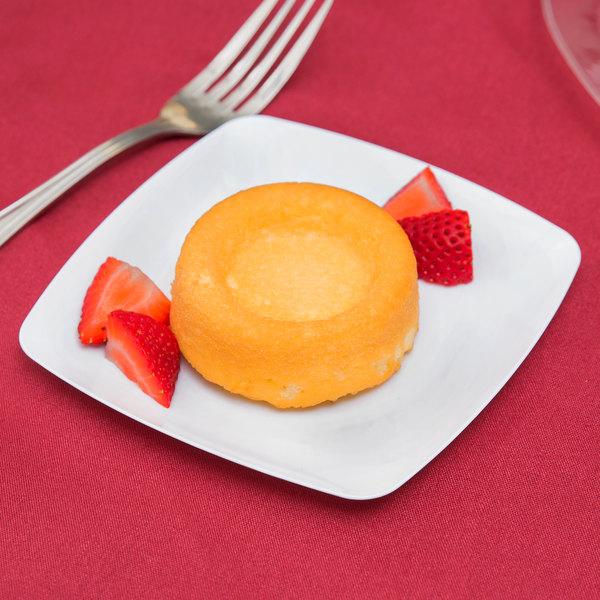 "Fineline Renaissance 1506-WH 5 1/2"" White Plastic Dessert Plate - 10/Pack"