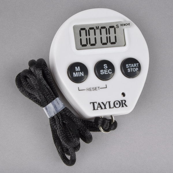 Taylor 5816N Chef\'s Professional Digital Kitchen Timer / Stopwatch with  Lanyard