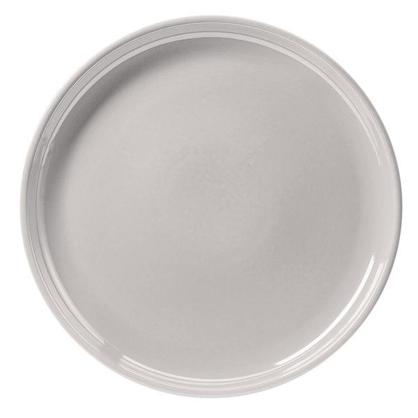 """Hall China 26130ABWA Bright White 13 1/4"""" China Chop Plate - 6/Case"""