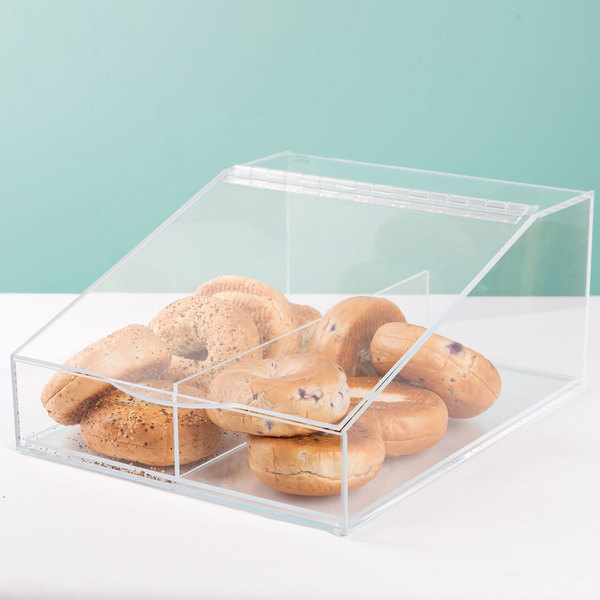 """Cal-Mil 123 Classic Acrylic Food Bin with Removable Divider - 13"""" x 16"""" x 7"""""""
