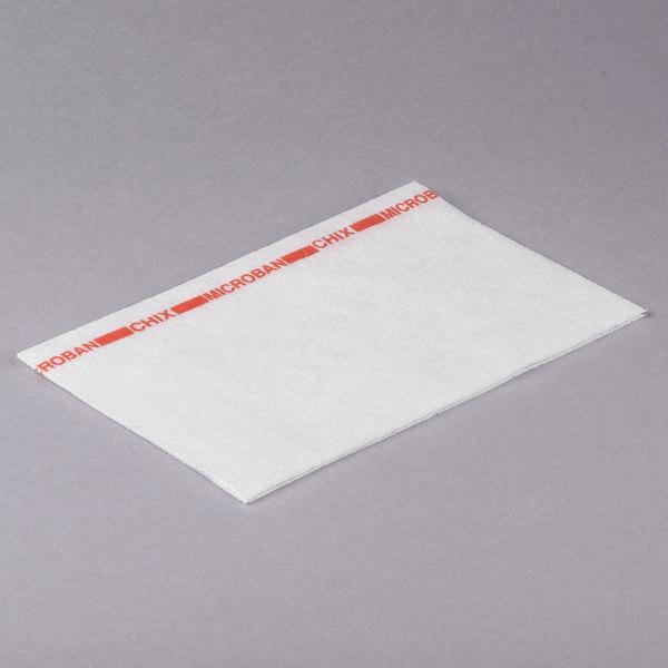 Chicopee 8242 Chix 13 inch x 21 inch White / Red Medium-Duty Foodservice Wiper - 150/Case