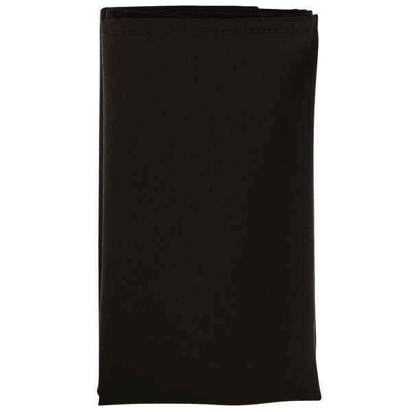Intedge Black 100 Polyester Cloth Napkins 20 X 20 12 Pack