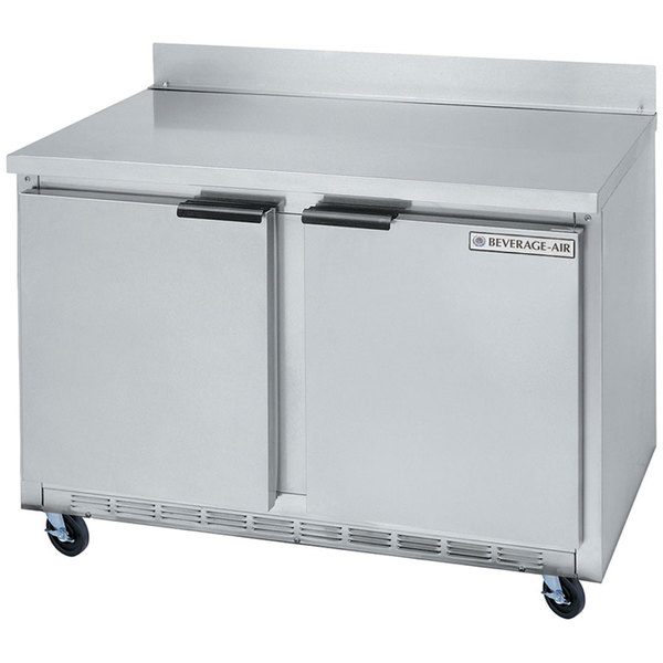 """Beverage Air WTR48A 48"""" Worktop Refrigerator - 2 Doors"""