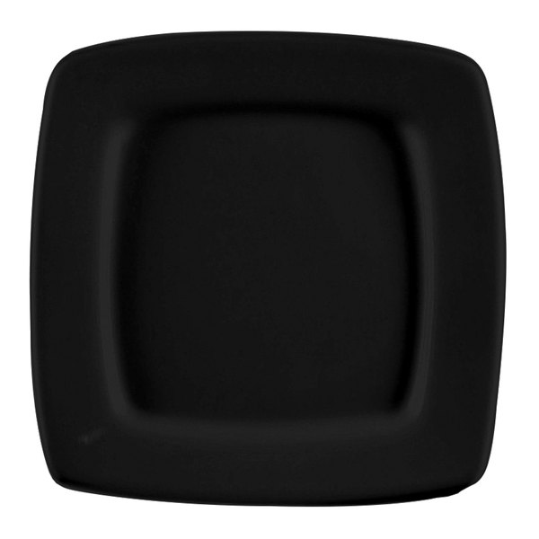 """CAC R-S8QBK Clinton Color 8 7/8"""" Black Square in Square Plate - 24/Case Main Image 1"""