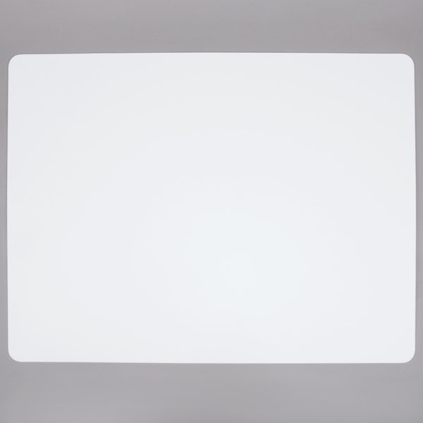 Tablecraft FCB1824W 18 inch x 24 inch White Flexible Cutting Board - 6/Pack