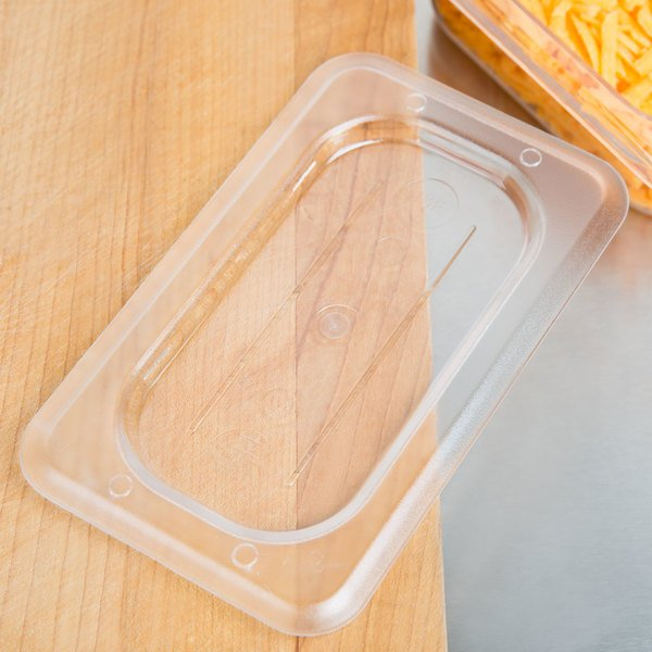 1/9 Size Clear Polycarbonate Food Pan Lid
