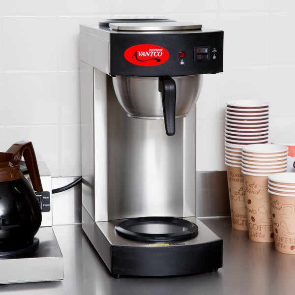 Avantco C10 12 Cup Pourover Commercial Coffee Maker with 2 Warmers- 120V Main Image 3