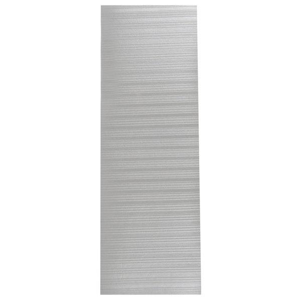 "Cactus Mat 1025R-E2 Tredlite 2' Wide Gray Ribbed Vinyl Anti-Fatigue Mat - 3/8"" Thick"