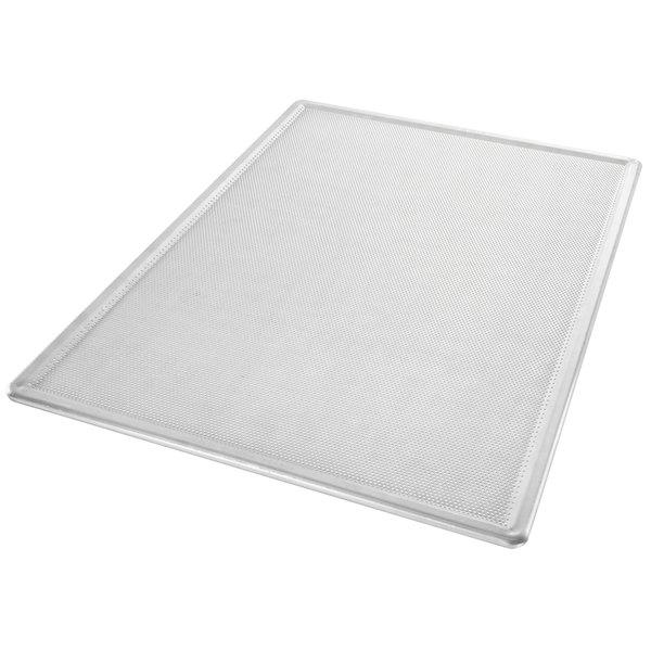 "Chicago Metallic 44801 Perforated Full Size 16 Gauge Aluminum Customizable Baking Screen - Seamless Corners, 18"" x 26"""