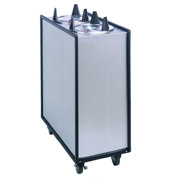"""APW Wyott Lowerator ML3-6 Mobile Enclosed Unheated Three Tube Dish Dispenser for 5 1/8"""" to 5 3/4"""" Dishes"""