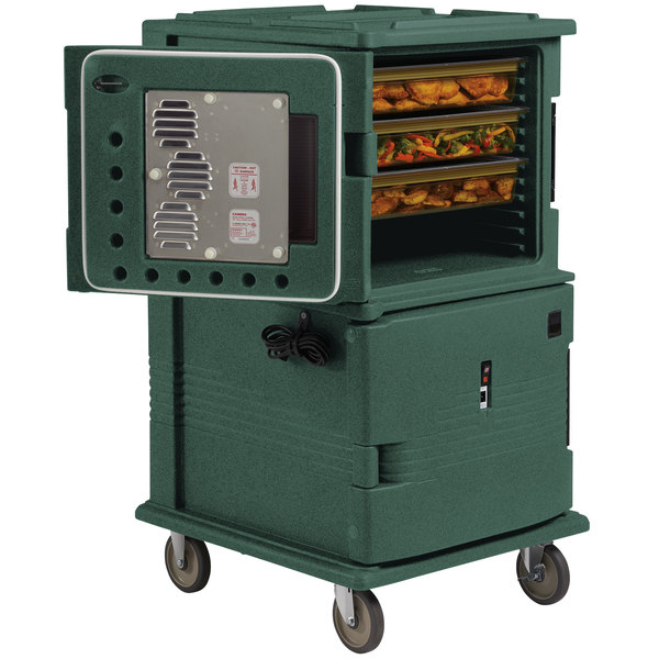 Cambro UPCH1600192 Ultra Camcart® Granite Green Electric Hot Food Holding Cabinet in Fahrenheit - 110V Main Image 1