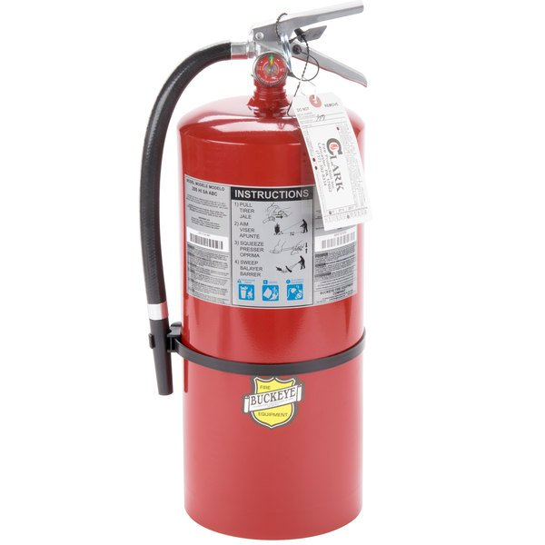 Buckeye 20 lb. ABC Fire Extinguisher - Rechargeable Tagged - UL Rating 10A-120B:C