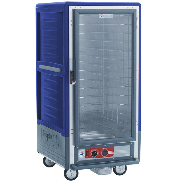 Metro C537-HFC-4-BU C5 3 Series Heated Holding Cabinet with Clear Door - Blue Main Image 1