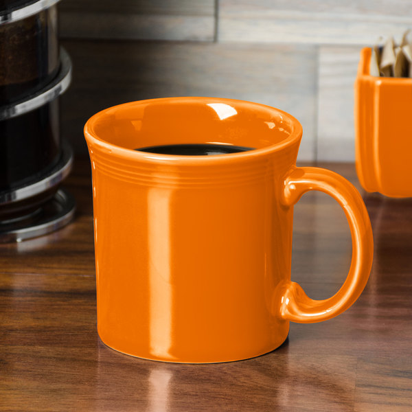 Homer Laughlin 570325 Fiesta Tangerine 12 oz. Java Mug - 12/Case