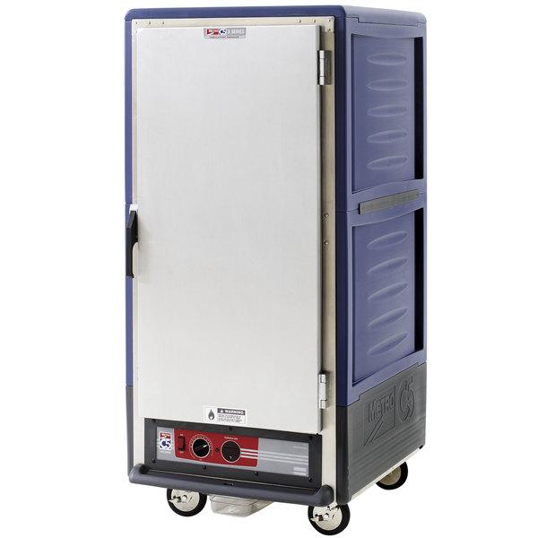 Metro C537-HFS-U-BU C5 3 Series Heated Holding Cabinet with Solid Door - Blue Main Image 1