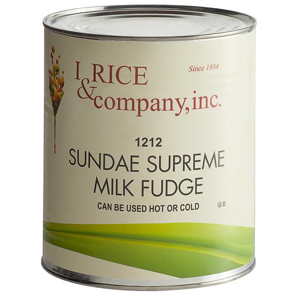 I. Rice #10 Can Hot Fudge Dessert / Sundae Topping - 6/Case