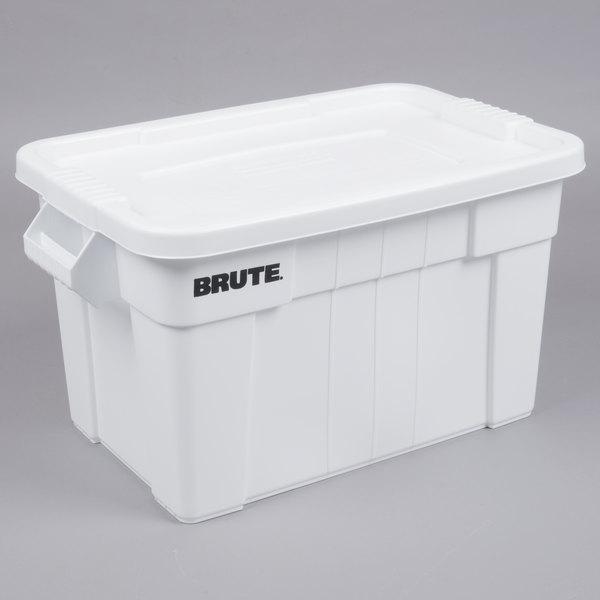 Rubbermaid Brute 20 Gallon Tote W Lid, 20 Gallon Storage Tote