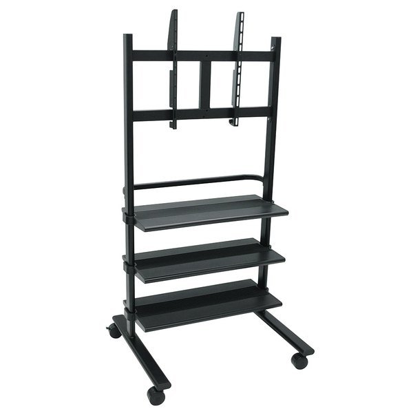 """Luxor WFP100-B Flat Panel TV Cart with 3 Shelves for 32"""" to 60"""" Screens"""