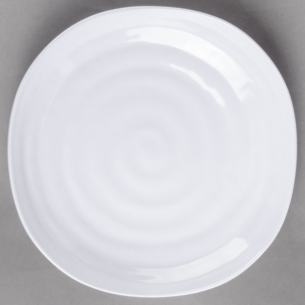 Offering the earthy and exotic look of hand-thrown pottery this Carlisle 4341002 Terra white square melamine plate will keep your guests talking long after ... & Carlisle 4341002 Terra 9