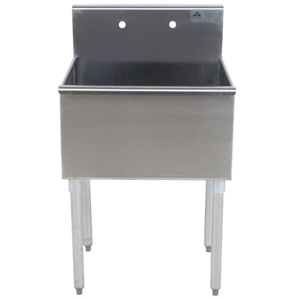 """Advance Tabco 4-1-24 One Compartment Stainless Steel Commercial Sink - 24"""" Main Image 1"""