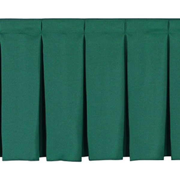 """National Public Seating SB8-36 Green Box Stage Skirt for 8"""" Stage - 36"""" Long"""
