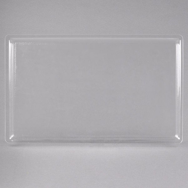 """Cal-Mil 325-12-12 12"""" x 20"""" Shallow Clear Bakery Tray"""