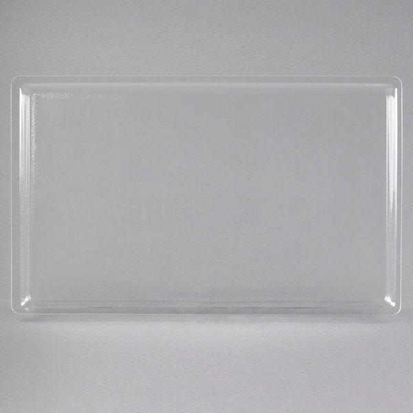 """Cal-Mil 325-12-12 12"""" x 20"""" Shallow Clear Bakery Tray Main Image 1"""