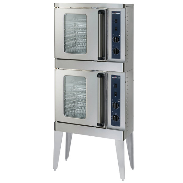 Alto-Shaam 2-ASC-2E/STK Platinum Series Stacked Half Size Electric Convection Oven with Manual Controls - 240V, 1 Phase