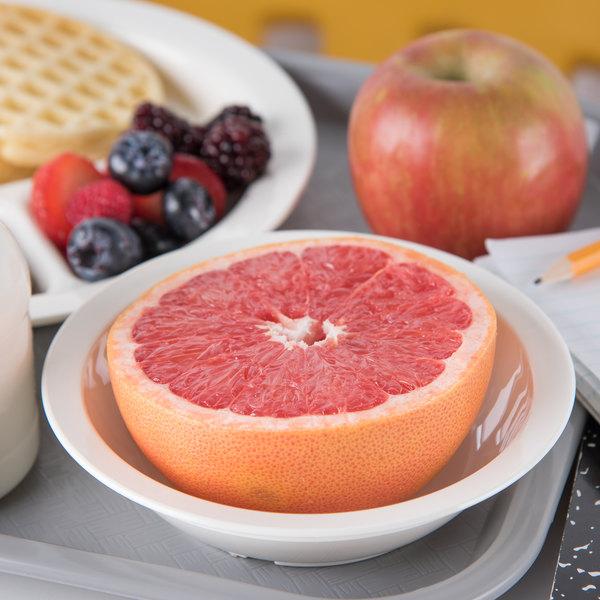 "Carlisle PCD31302 White 10 oz. Polycarbonate 6"" Rimmed Grapefruit Bowl - 48/Case"