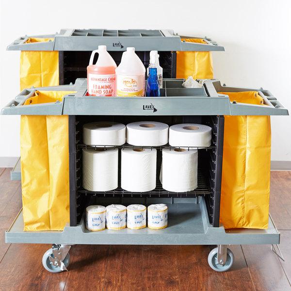 Lavex Lodging Hotel / Housekeeping Cart - Small Three Shelf