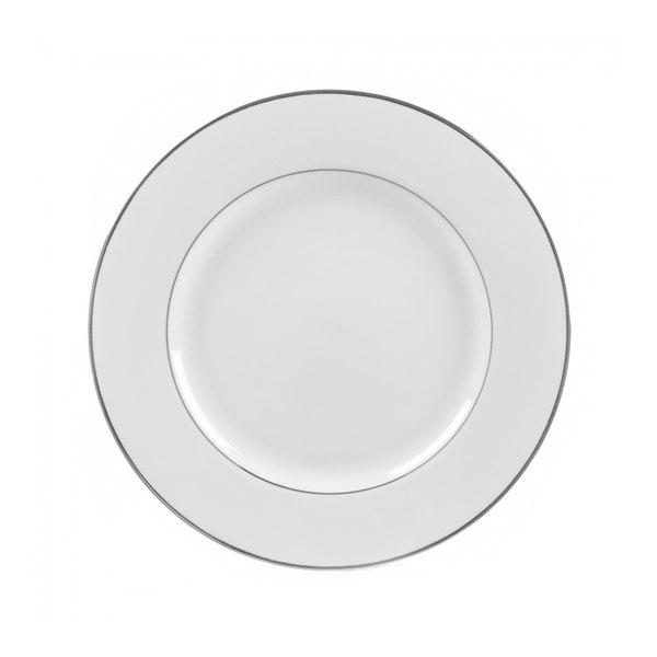 "10 Strawberry Street DSL0004 7 3/4"" Double Line Silver Salad / Dessert Plate - 24/Case"