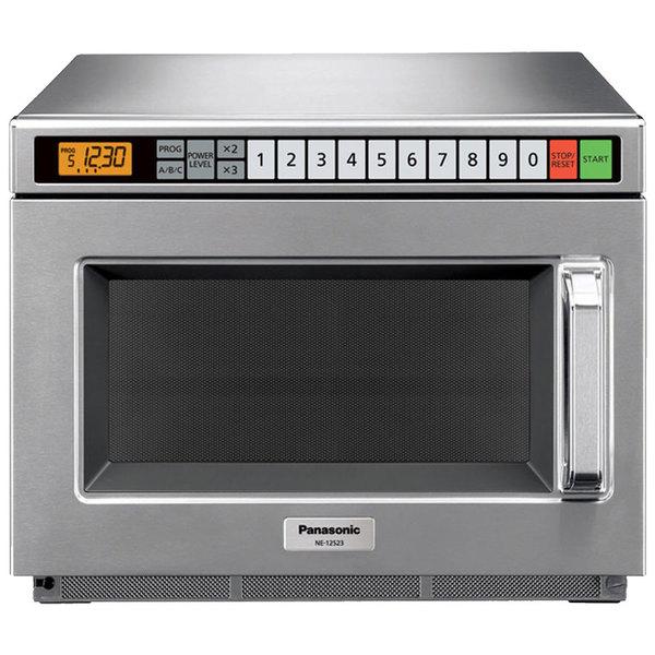 Panasonic NE-17521 Stainless Steel Commercial Microwave Oven - 208/230-240V, 1700W