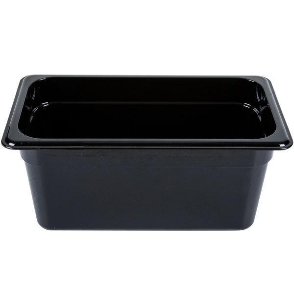 "Carlisle 3086203 StorPlus 1/3 Size Black High Heat Food Pan - 6"" Deep"