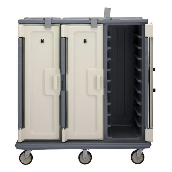 Cambro MDC1418T30191 Granite Gray 3 Compartment Meal Delivery Cart 30 Tray Main Image 1